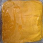 ผ้าขนหนู Cotton100% ผ้าเช็ดหน้า สีเหลือง 11*11 นิ้ว โหลละ 115 บาท ส่ง 20โหล