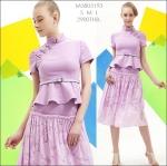 M5805193 / S M L / 2015 Hiend Design Fashion dress พรีออเดอร์เดรสแฟชั่นงานเกรดยุโรป สวยดูดีมีสไตล์ นางแบบใส่ชุดจริง เป๊ะเว่อร์!