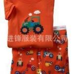 ชุดนอน Baby Gap แขนสั้น ลายรถ สีส้ม