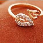 แหวนแฟชั่นรูปใบไม้ ปรับขนาดได้-พร้อมส่ง