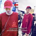 เสื้อแขนยาว I Feel Like A Pablo KANYE WEST RED Sty.KRIS EXO -ระบุไซต์-