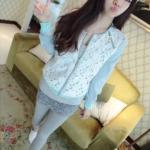 พรีออเดอร์ เสื้อแจ็กเก็ต วินเทจ สีฟ้า