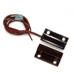 Magnetic Door Switch สีน้ำตาล สวิตช์แม่เหล็ก สำหรับติดเซนเซอร์ สวิตช์ประตู สวิตช์หน้าต่างกันขโมย