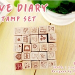 Pre order stamp ตรายาง LOVE DIARY STAMP SET