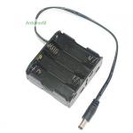 รางถ่าน AA ขนาด 8 ก้อน 12V พร้อมแจ๊กถ่าน สำหรับ Arduino