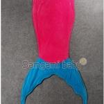 ผ้าห่มหางนางเงือก (ถุงนอน) ราคาส่ง สีกุหลาบแดง แพ็ค 3ชุด ยาว 142 cm.