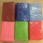 ผ้าเช็ดผม นาโน สีพื้น คละสี 30*70ซม โหลละ 180 บาท ส่ง 24โหล