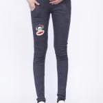 กางเกงคนท้องเอวปรับระดับมีพยุงครรภ์ L0214 สีเทาเข้ม Paul Frank