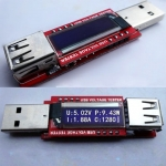 USB Charger Doctor OLED mini USB Charger Capacity power Current Voltage Detector Tester Meter