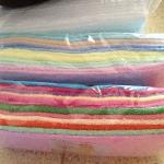 ผ้าขนหนู Cotton100% ผ้าเช็ดตัว 9 ปอนด์ คละสี 27*54นิ้ว โหลละ 1210บาท ส่ง 10โหล