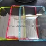 เคสยาง IPad 2 / 3 - หลังใส ขอบสี มีจุกกันฝุ่น