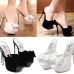 รองเท้าส้นสูงสีขาว/ดำ ไซต์ 34-39