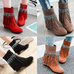 รองเท้าบูทสีน้ำตาล/ดำ/เทา/แดง ไซต์ 34-43
