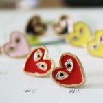 ต่างหูรูปหัวใจ PLAY หลากสี พร้อมส่ง
