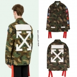 Jacket Off-White camouflage patch cargo 17FW -ระบุไซต์-