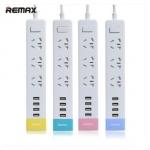 ปลั๊กไฟ REMAX ปลั๊กไฟ 3 ช่อง และ USB 4 Port รุ่น RU-S2 แท้