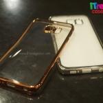 Samsung Galaxy S6 Edge - เคสใสขอบสีเมทัลลิก TPU