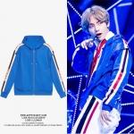 Jacket Hoodie BLUE Striped Sty.V BTS -ระบุไซต์-