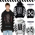 Hoodie OFF-WHITE Diag Caravaggio 16ss -ระบุสี/ไซตฺ