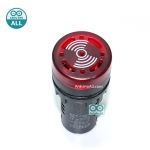 Buzzer LED Alert 5-12V เสียงและแสงสัญญาณเตือนภัย ออดไฟฟ้า ไฟสีแดง 5-12V