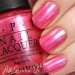 OPI - Can't Hear Myself Pink ชมพูเนื้อซิลเว่อร์ขนาดเล็กน่ารัก