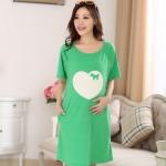 ชุดคลุมท้อง loveloveแบบเปิดให้นม สีเขียว