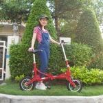 จักรยานพับแม่และเด็ก Transformer