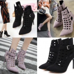 รองเท้าส้นสูงสีเทา/ดำ ไซต์ 34-40