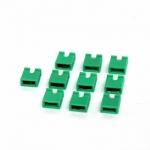 จัมเปอร์สีเขียว Mini Jumper 2 Pins Female Pitch 2.54mm Green Color จำนวน 10 ชิ้น