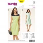 แพทเทิร์นตัดเดรสทำงาน เก๋ๆ ยี่ห้อ Burda Style (6627) ไซส์: 8-10-12-14-16-18