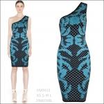 HV0913 / Preorder Herve Leger Dress Style พรีออเดอร์เดรสไตล์ Hervr Leger เดรสผ้ายืด ใส่สวยเน้นรูปร่าง แบบเก๋ทันสมัย สไตล์ดาราและเซเลบกำลัง HOT HIT