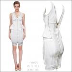 HV0925 / Preorder Herve Leger Dress Style พรีออเดอร์เดรสไตล์ Hervr Leger เดรสผ้ายืด ใส่สวยเน้นรูปร่าง แบบเก๋ทันสมัย สไตล์ดาราและเซเลบกำลัง HOT HIT
