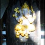 พระพิฆเณศลงทอง ไม้สัก (ตั้ง-แขวน)