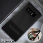 Samsung Note8 - เคส TPU ลายเคฟล่า Carbon + หนัง PU พร้อมขาตั้ง TOTU DESIGN แท้