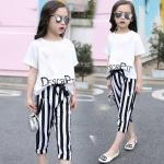 เสื้อ+กางเกง สีขาว 1 ชุด ไซส์ 120