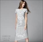M5805154 / S M L XL / 2015 Hiend Design Fashion dress พรีออเดอร์เดรสแฟชั่นงานเกรดยุโรป สวยดูดีมีสไตล์ นางแบบใส่ชุดจริง เป๊ะเว่อร์!