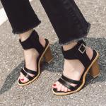 รองเท้าส้นสูงสีดำ ไซต์ 35-39