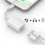 Y Cable หัวแปลงฟังเพลง 2in1 Ligtning to Dual Lightning port iPhone 8 / 8 Plus แท้