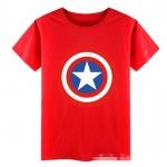 เสื้อ ลายกัปตันอเมริกา สีแดง แพ็ค 4 ชุด ไซส์ 100-110-130-140
