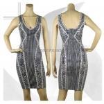 HV101 / Preorder Herve Legr Dress Style พรีออเดอร์เดรสไตล์ Hervr Leger เดรสผ้ายืด ใส่สวยเน้นรูปร่า