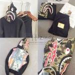 Jacket Hoodie A BATHING APE Camo SHARK Graphic 16ss -ระบุไซต์-