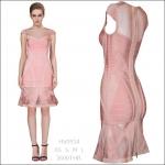HV0934 / Preorder Herve Leger Dress Style พรีออเดอร์เดรสไตล์ Hervr Leger เดรสผ้ายืด ใส่สวยเน้นรูปร่าง แบบเก๋ทันสมัย สไตล์ดาราและเซเลบกำลัง HOT HIT