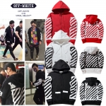 Jacket Hoodie OFF-WHITE Brushed diagonals Zip --ระบุสี/ไซต์-