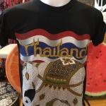 เสื้อลายช้างไทย เสื้อสกรีนนูนลายช้างไทย สกรีน Thailand