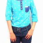 เสื้อยืดแขนยาวสีฟ้า ลายมิกกี้เม้าส์-พร้อมส่ง