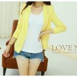 พรีออเดอร์ เสื้อสูท สีเหลือง มีไซส์ S/M/L