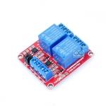 บอร์ด Relay 2 ช่อง relay 12v แบบ Active Hight 10A 250V สำหรับ Arduino และ Microcontroller Active High/ Active Low