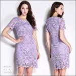 5902095 / M L XL XXL / 2016 Lace dress พรีออเดอร์ งานคัตติ้งยุโรป คุณภาพดีสมราคา สวยคอนเฟริ์ม