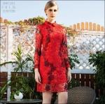 59020101 / S M L XL / 2016 Lace dress พรีออเดอร์ งานคัตติ้งยุโรป คุณภาพดีสมราคา สวยคอนเฟริ์ม