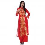 ชุดเวียดนามหญิงชั้นสูง ลายหงส์คู่มังกร (สีแดง) สำเนา